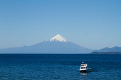 View of the Osorno Volcano, Patagonia, Chile from Puerto Varas l Royalty Free Stock Photo