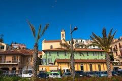 View of Ospedaletti, Italy Royalty Free Stock Photos