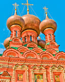 View of Ostankino Holy Trinity Church. Moscow, Russia, East Europe. Built in 1680 royalty free stock photography