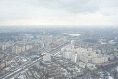 View from Ostankino television tower Stock Photo
