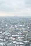 View from Ostankino television tower Royalty Free Stock Photography