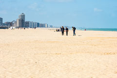 View of Ostend Beach, Belgium Stock Photography