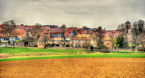 View of Osthoffen, a small town in Alsace. France Royalty Free Stock Photo