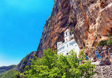 View on Ostrog ortodox monastery. Stock Image