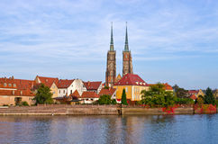 View on Ostrow Tumski in Wroclaw, Poland Stock Images