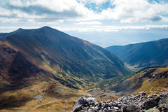 View from Ostry Rohac peak Royalty Free Stock Photo