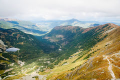 View from Ostry Rohac peak at Tatras Royalty Free Stock Photos
