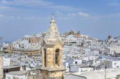 View of Ostuni, Puglia, Italy. View of white city - Ostuni, Puglia, Italy stock image