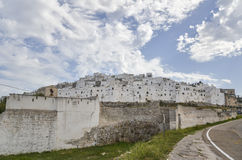 View of Ostuni, Puglia, Italy Royalty Free Stock Images
