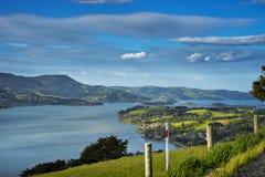 View on Otago harbour New Zealand Stock Photo