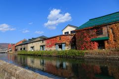 Otaru Canal in autumn, Japan. Royalty Free Stock Photography