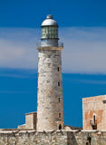 View othe lighthouse tower in El Morro in Havana, Royalty Free Stock Photo