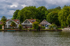View of the other side of the river, residential houses located Stock Photography
