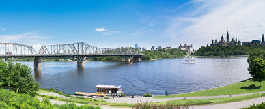 View of Ottawa from Gatineau stock images