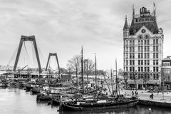 A view on the Oude Haven, Rotterdam, The Netherlands royalty free stock images