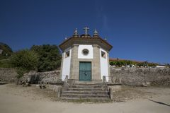 Our Lady of Good Dispatch Chapel, Baião. View from the Our Lady of Good Dispatch Chapel aka `Capela do Bom Despacho`, located at the Monastery of Santo Andr royalty free stock images