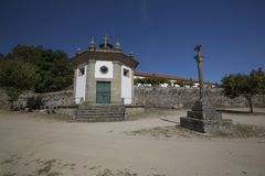 Our Lady of Good Dispatch Chapel, Baião. View from the Our Lady of Good Dispatch Chapel aka `Capela do Bom Despacho`, located at the Monastery of Santo Andr stock images