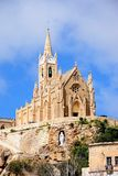 Our Lady of Lourdes church, Mgarr, Gozo. View of Our Lady of Lourdes church on the hillside, Mgarr, Gozo, Malta, Europe Stock Photography
