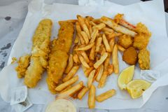 View of the Fish and Chips stock photography