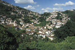 View of Ouro Preto, Brazil. Royalty Free Stock Photos