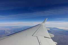 View out of aeroplane window Stock Photography