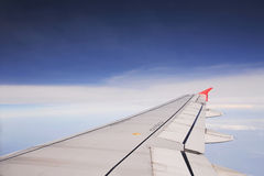 View out of airplane Airplane wing Stock Photos
