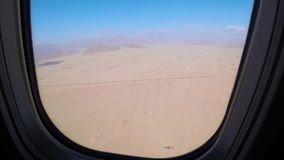 View out an airplane window stock video footage
