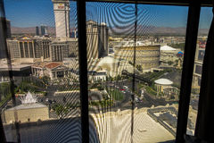 View out of hotel room in Las Vegas Stock Photos