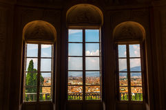 View out of the Kaffeehaus in Boboli Gardens, Florence Royalty Free Stock Image