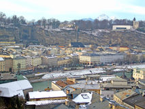 View out over the historic city of Salzburg Royalty Free Stock Photos