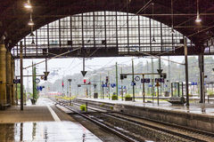 View out of the station concourse in Wiesbaden Stock Image