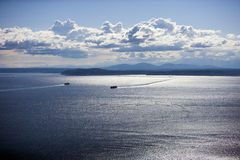 View out to Puget Sound  Stock Photography