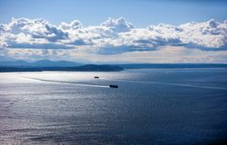 View out to Puget Sound from Space Needle Stock Photography