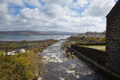 View out to sea from Tobermory Isle of Mull Scotland uk Royalty Free Stock Photos
