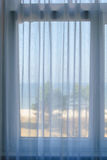 View out of the window towards the beach. In Binz on Ruegen Royalty Free Stock Photography