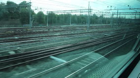 View out from a Window of a Train stock video footage