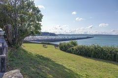 View of outer harbor harbour Brixham Torbay Devon Endland UK stock photography