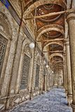 Columns of Mosque of Muhammad Ali royalty free stock image