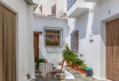 View of the outside entrance of a typical house in the south of Stock Image