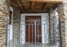 View of the outside entrance of a typical village house in La Al Stock Photography