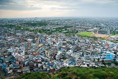 View of the outskirts of the city, Jaipur, Rajasthan, India Royalty Free Stock Image