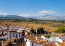 View on the outskirts of Ronda village Royalty Free Stock Photography