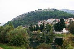 View the outskirts of Trebinje. View a fragment of the city of Trebinje (Bosnia and Herzegovina Royalty Free Stock Image