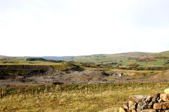 View over Abandon Quarry. Abandon quarry on the Stanhope moorland in the north of England looking over weardale Royalty Free Stock Image