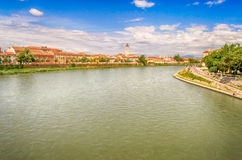 View Over Adige River in Verona, Italy Royalty Free Stock Images