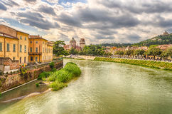 View Over Adige River in Verona, Italy Royalty Free Stock Image