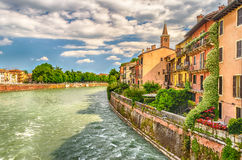 View Over Adige River in Verona, Italy Royalty Free Stock Photography