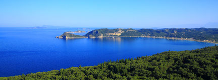 View over Agios Georgios Pagon on corfu island Stock Photo