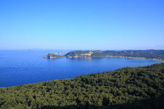 View over Agios Georgios Pagon on corfu island Stock Image