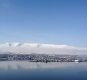 View over Akureyri Stock Image